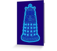 Snowflake Dalek Greeting Card