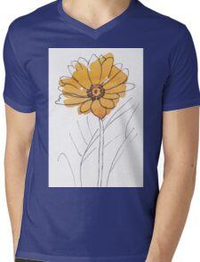 Cheerful Gerbera daisy (Gerbera jamesonii) Mens V-Neck T-Shirt