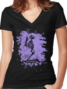 Prayer – bleached violet Women's Fitted V-Neck T-Shirt