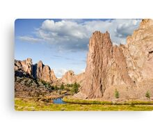 Smith Rock and the Crooked River Canvas Print