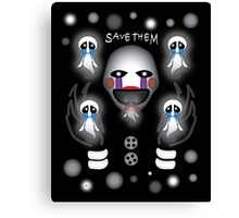 Fnaf Marionette and the Ghost Children Canvas Print