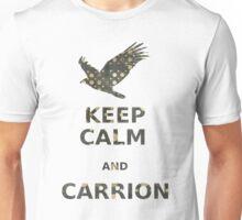 keep calm and carrion vulture grunge polka dot Unisex T-Shirt