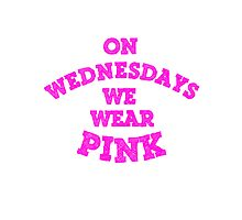 On Wednesdays We Wear Pink. Photographic Print