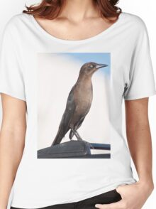 Female Common Grackle  Women's Relaxed Fit T-Shirt
