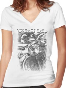 VINTAGE POSTER  Women's Fitted V-Neck T-Shirt