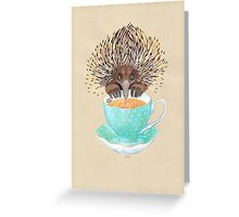 Animal Echidna tea Greeting Card