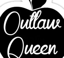 Outlaw Queen (White) Sticker