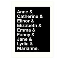 Women of Jane Austen Art Print