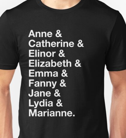 Women of Jane Austen Unisex T-Shirt
