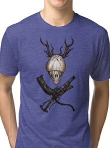 Bloodborne CrossWeapons(color) Tri-blend T-Shirt