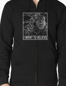 I Want To Believe - Bloodborne Zipped Hoodie