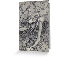 Summer Fairy and Her Swallow Greeting Card