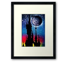 Castle Under Moonlight Framed Print