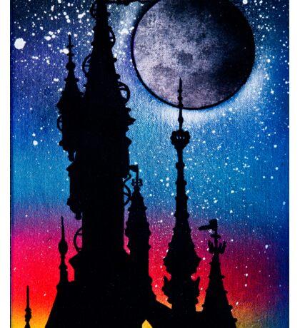 Castle Under Moonlight Sticker