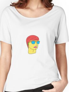 Colored Portrait (Simple) Women's Relaxed Fit T-Shirt