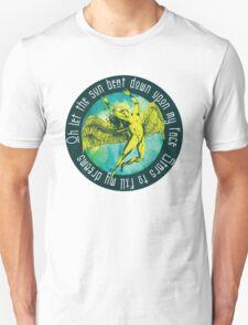 ICARUS THROWS THE HORNS - kashmir T-Shirt
