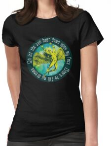 ICARUS THROWS THE HORNS - kashmir Womens Fitted T-Shirt