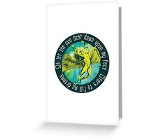 ICARUS THROWS THE HORNS - kashmir Greeting Card