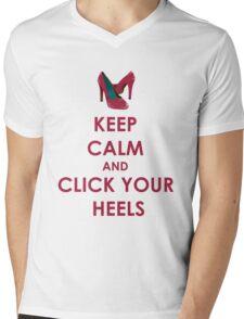 Keep Calm and Click Your Heels tshirt Mens V-Neck T-Shirt
