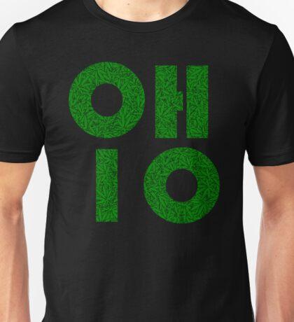 Ohio (OH) Weed Leaf Pattern Unisex T-Shirt