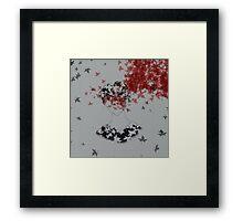 Blood Leaves Framed Print