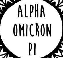 Alpha Omicron Pi Sticker
