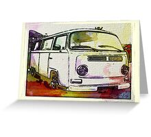Vintage Colour washed Early bay Greeting Card