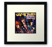 ROCK N' ROLL VINTAGE POSTER Framed Print