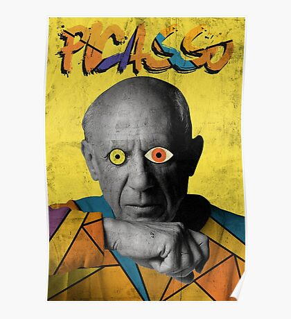 Picasso Photograph (Modern Art Style) Poster