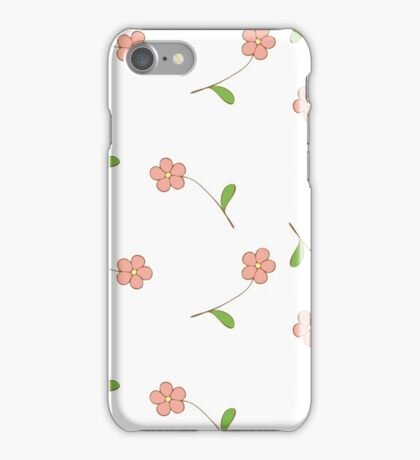 Delicate pink flowers. iPhone Case/Skin