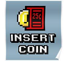 Insert Coin Arcade Pinball Machine Poster