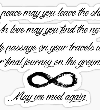 May We Meet Again Text Sticker