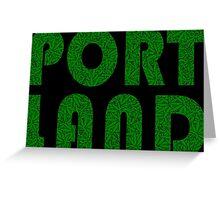 Portland Oregon (OR) Weed Leaf Pattern Greeting Card