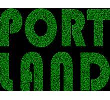 Portland Oregon (OR) Weed Leaf Pattern Photographic Print