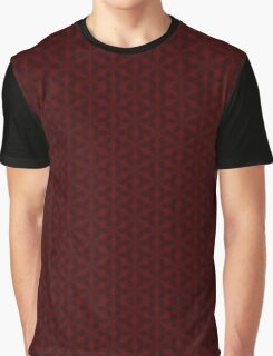 Red snow flake pattern Graphic T-Shirt