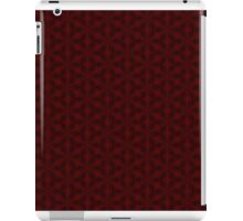 Red snow flake pattern iPad Case/Skin
