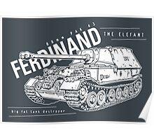Ferdinand Tank Destroyer  Poster