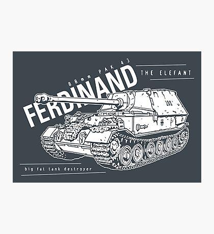 Ferdinand Tank Destroyer  Photographic Print