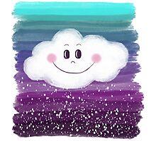 Happy Purple Dream Photographic Print