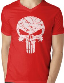 Punisher Logo Mens V-Neck T-Shirt
