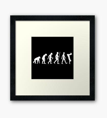 Human Evolution Parkour Evolution Framed Print
