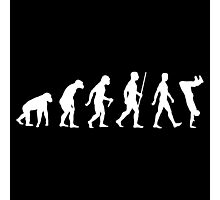 Human Evolution Parkour Evolution Photographic Print