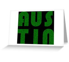 Austin Texas (TX) Weed Leaf Pattern Greeting Card