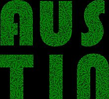 Austin Texas (TX) Weed Leaf Pattern Photographic Print