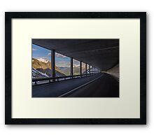 Mountain Tunnel Framed Print