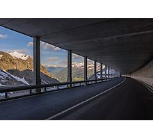Mountain Tunnel Photographic Print
