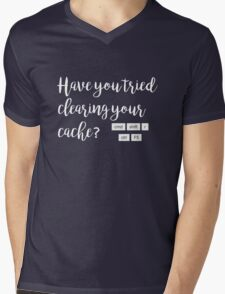 Have you tried clearing your cache? Mens V-Neck T-Shirt