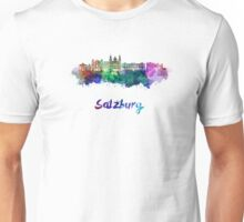 Salzburg skyline in watercolor Unisex T-Shirt