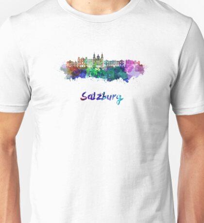 Salzburg skyline in watercolor Unisex T-Shirt