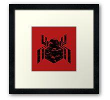 Spiderman Logo - Civil War (Black) Framed Print